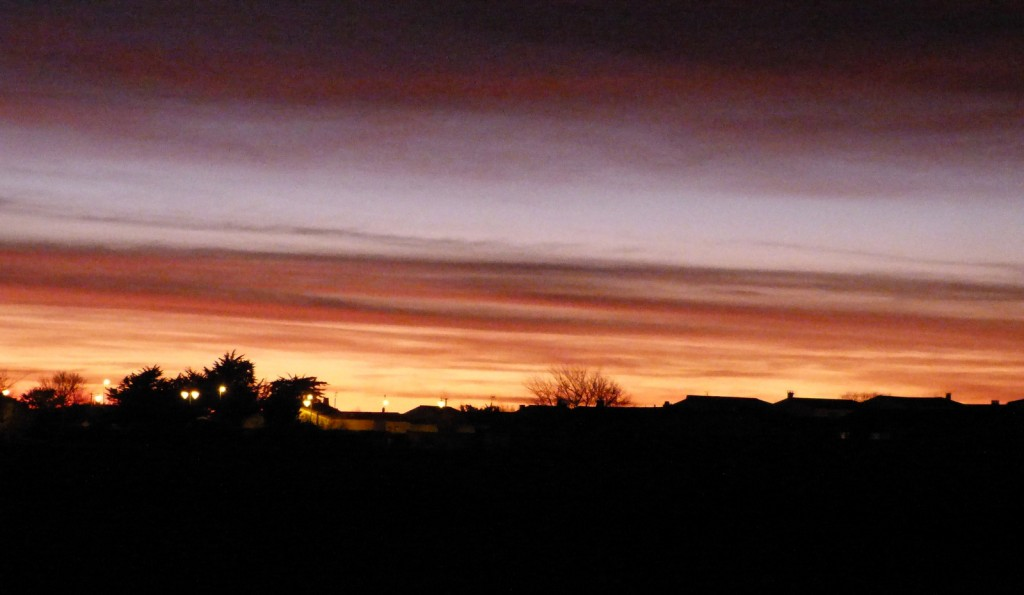 Ars - Coucher de soleil - 7 mars 2015