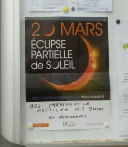 Ré Astronomie - Affiche observation éclipse du 20 mars 2015