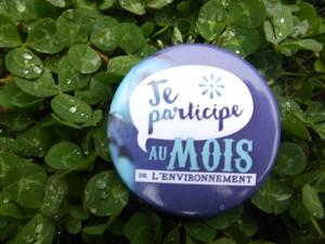 Badge du mois de l'environnement - Ile de Ré - avril 2015