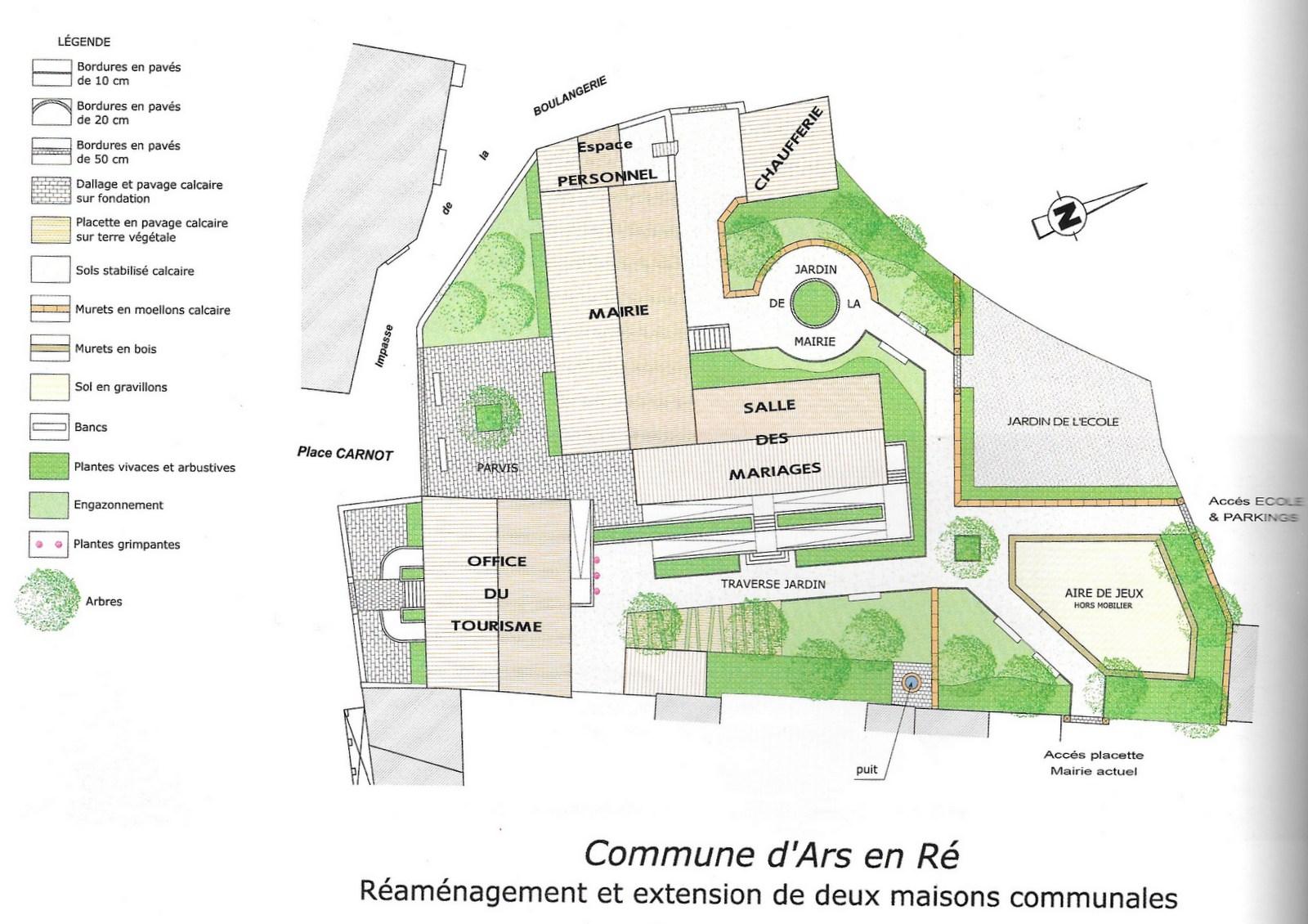 Ars-en-Ré - Plan d'aménagement des maisons communales