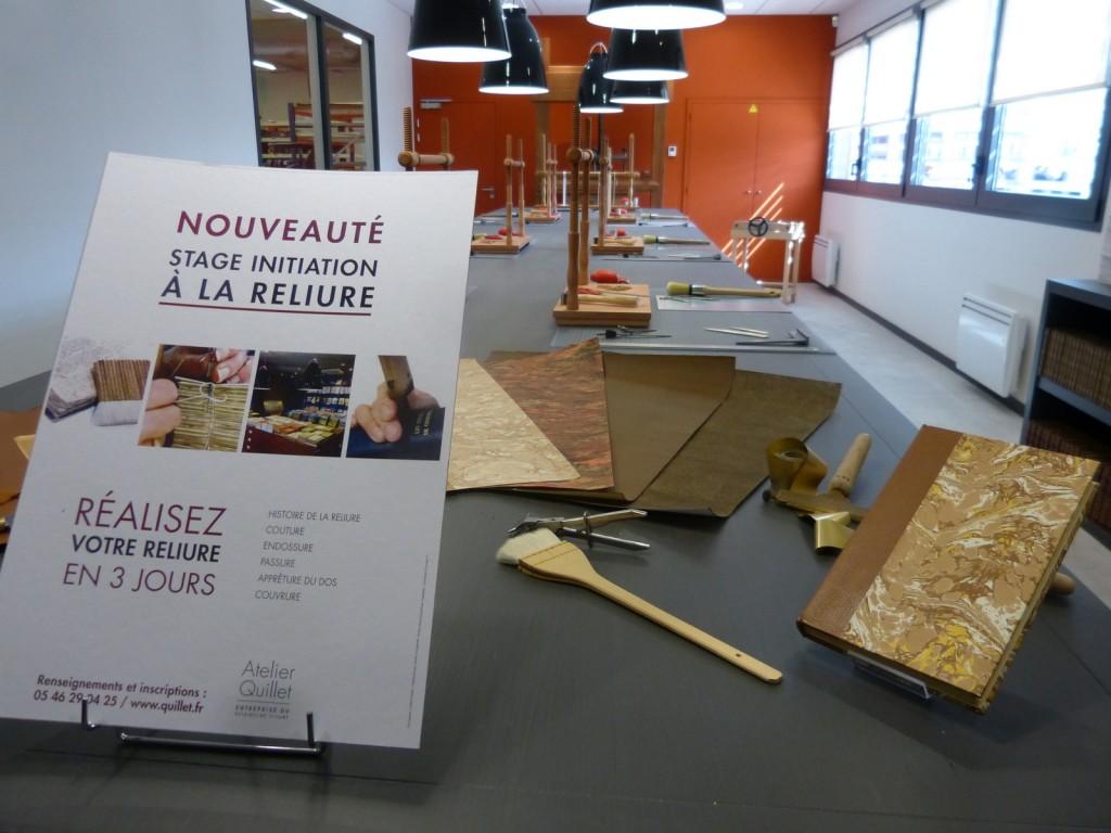 Stage reliure à l'Atelier Quillet - Loix - 30 mai 2015