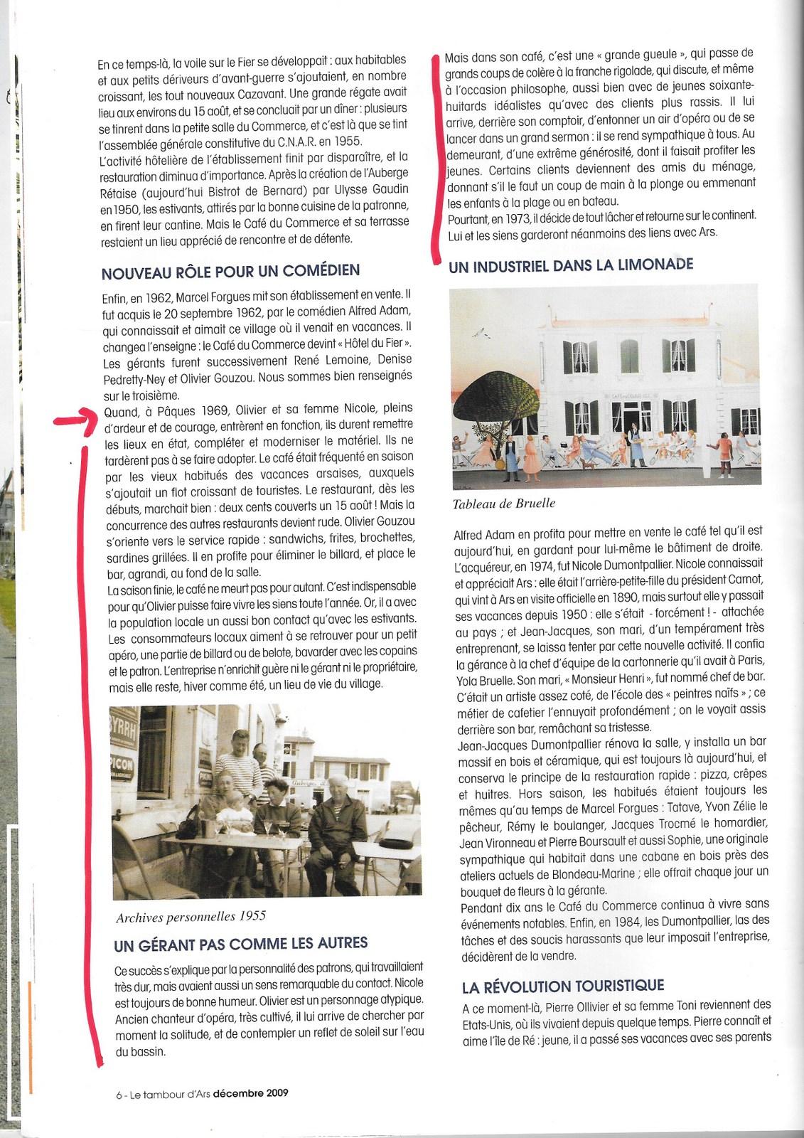 Texte Jean-Claude Carloni - Tambour d'Ars  décembre 2009