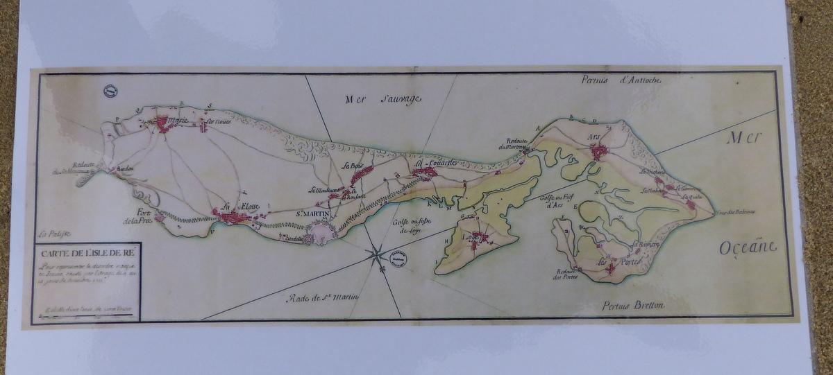 Carte de l'Isle de Ré - décembre 1711
