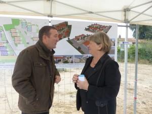 Patrice Raffarin marie de Rivedoux et Dominique Rabelle présidente de Habitat 17