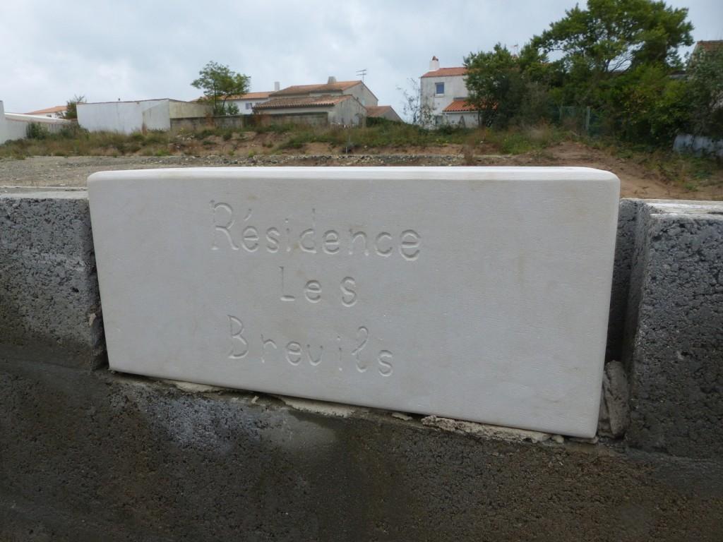 Rivedoux, 1ère pierre aux Breuils - 4 novembre 2015