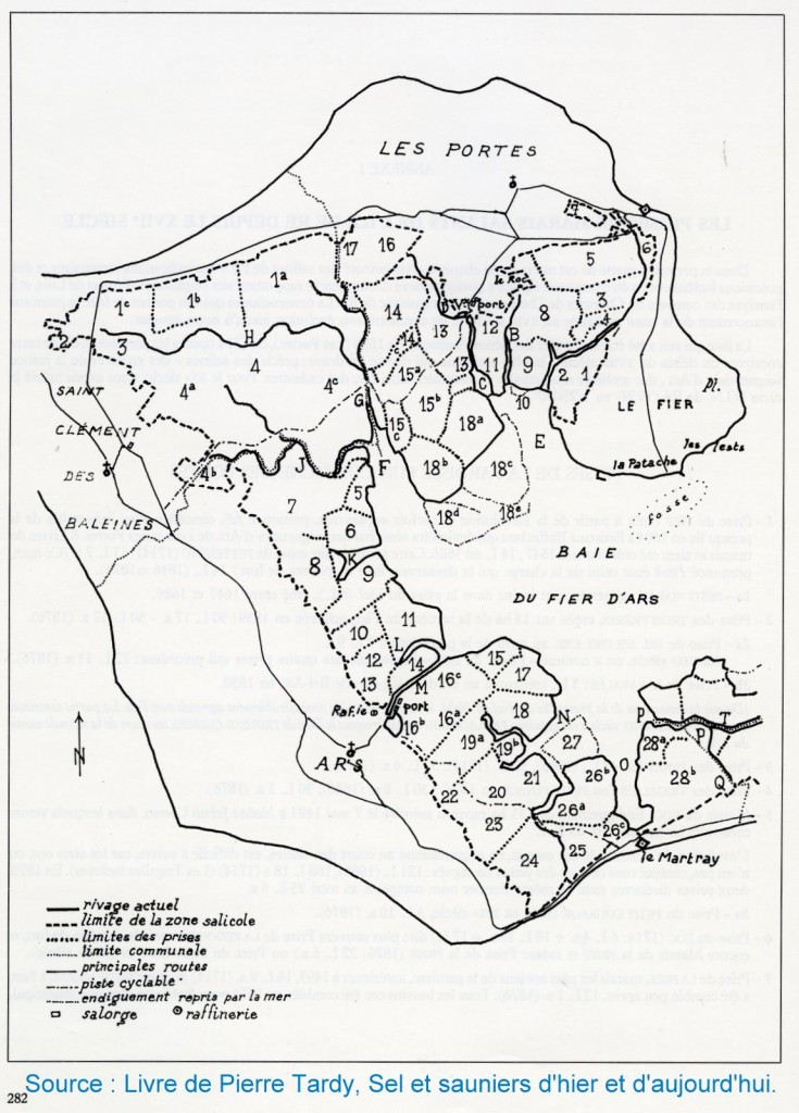 Carte des marais - Source Pierre Tardy