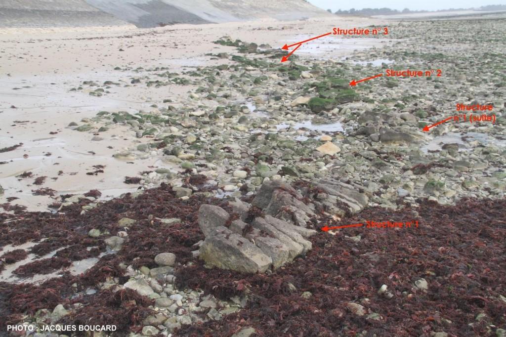 Ars - Chemin de pierres  ? Digue de la Loge du Gué - Explications Jacques Boucard - janvier 2016