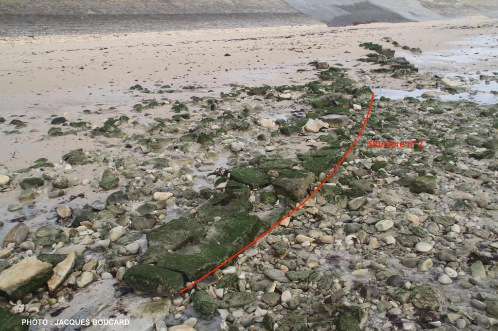 Ars - Chemin de pierres - Digue de la Loge du Gué - Digue de la Loge du Guet - Traces de digue - Explications Jacques Boucard - janvier 2016