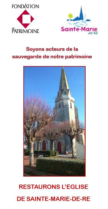 Brochure Fondation du Patrimoine - Eglise Sainte Marie de Ré