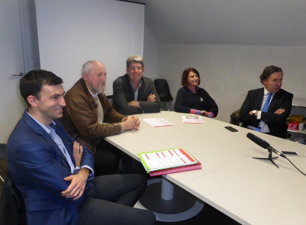 Guillaume Barny, Patrice Déchelette, lionel Quillet, Gisèle Vergnon, Didier Gireau