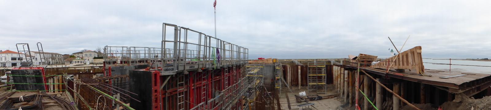 Port de la Flotte - Chantier porte - 5 février 2016