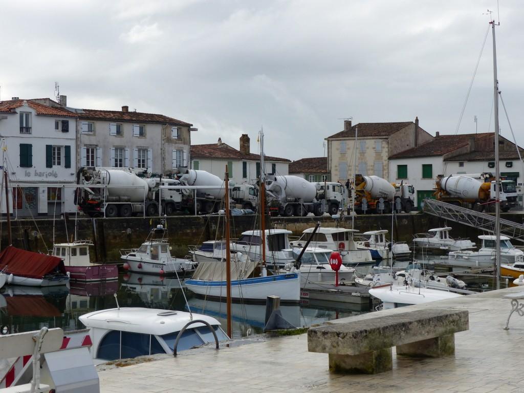 La Flotte - Travaux du port - 22 février 2016