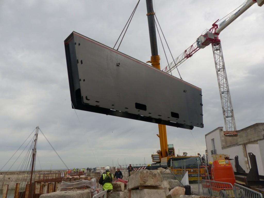 Port de La Flotte - Pose 1ère moitié - 20 avril 2016