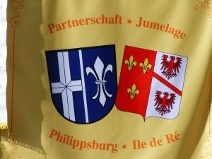 Drapeau jumelage Philippsburg- Ile de Ré - 17 mai 2016