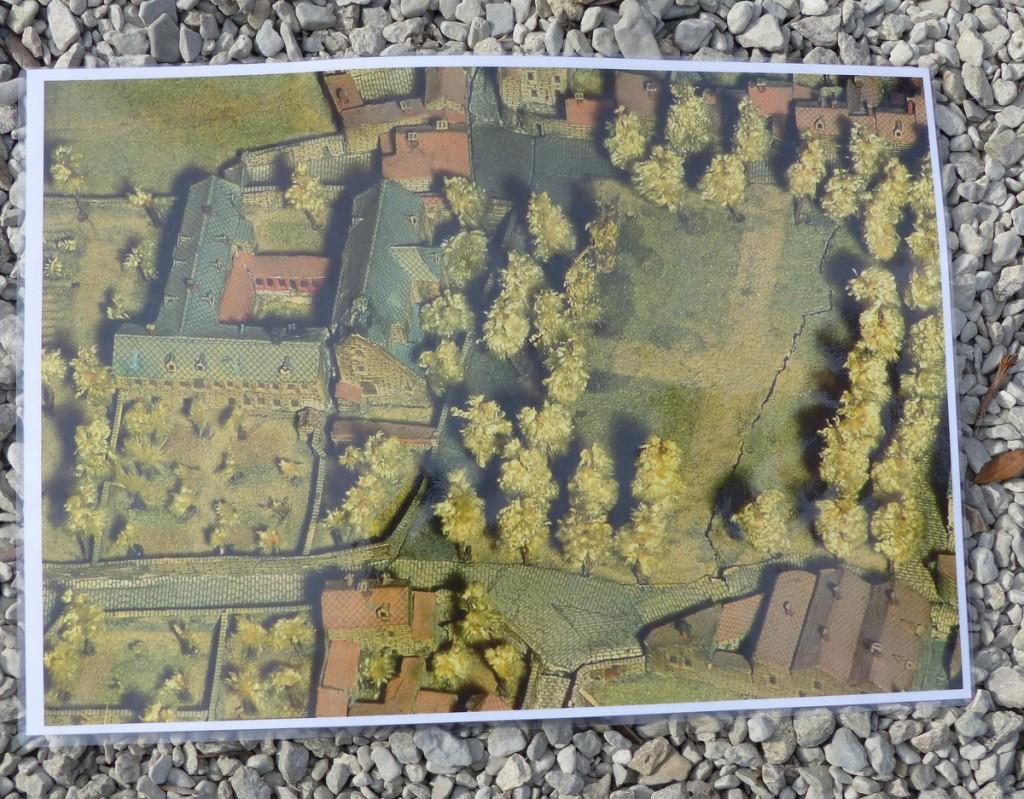 Zoom du plan relief de Saint-Martin de Ré
