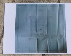 Plan du monuments aux morts d'Ars-en-Ré par Jules Bannier