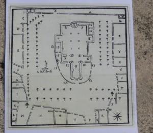 Plan de l'église d'Ars daté 1794