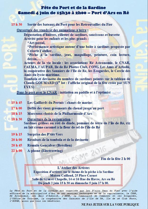 Programme de la Fête de la Sardine 2016