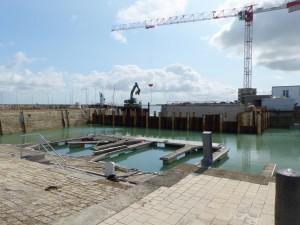 Port de La Flotte - Démontage batardeau - 23 mai 2016