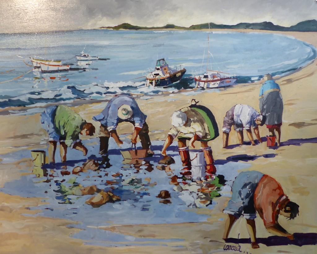 Pêche à pied - Peinture : Canard