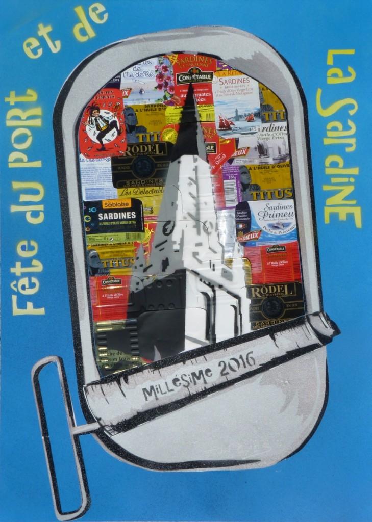 Affiche Fête de la Sardine 2016 - Sun Eyes