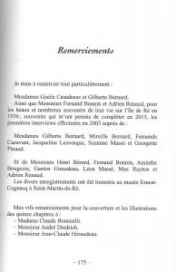 Remerciements - L'Ecossais de Saint-Clément des Baleines - juillet 2016