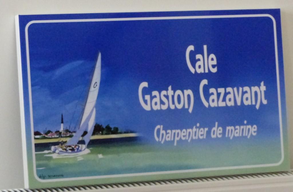 Plaque Gaston Cazavant