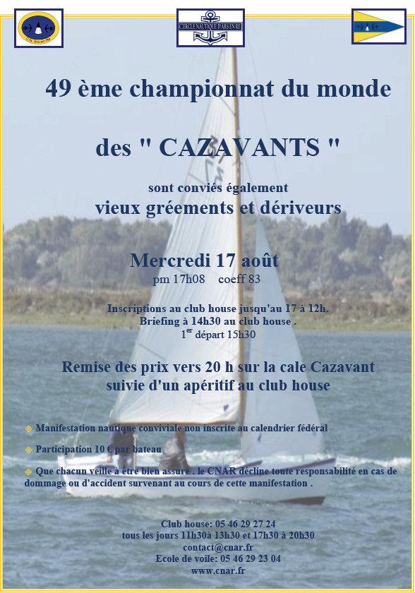 Affiche 2016 Championnat du monde des Cazavants