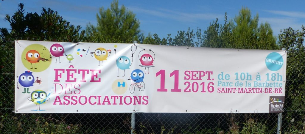 Fête des Associations - Banderole - 11 septembre 2016