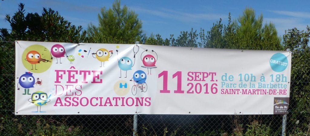 Fête des Associations - Banderole - 11 septembre 2016