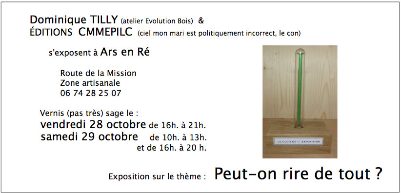 Dominique Tilly - Flyer Expo - Octobre 2016