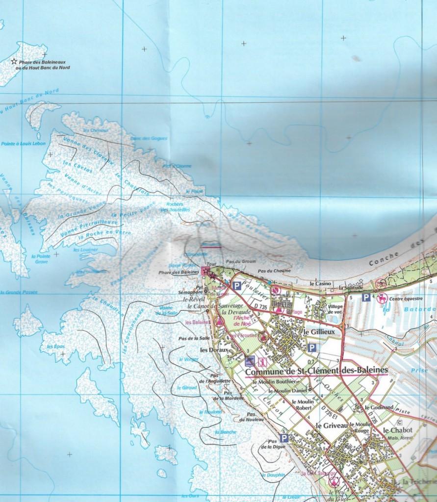 Extrait Carte IGN Ile de Ré - Saint-Clément des Baleines