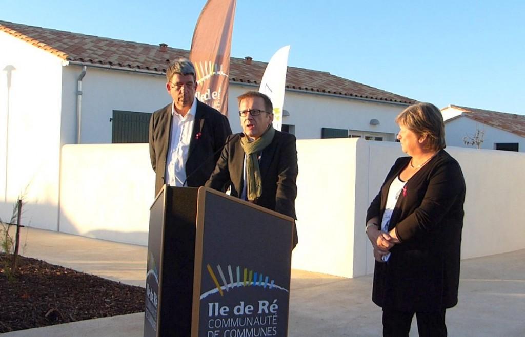 Loix - Inauguration des logements sociaux - 17 octobre 2016.
