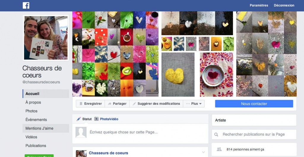 Facebook Chasseurs de coeurs - 1er novembre 2016