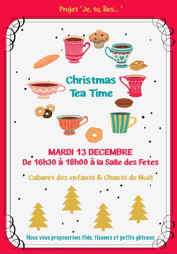 Je, tu, îles ... Affichette Christmas Tea Time - Décembre 2016