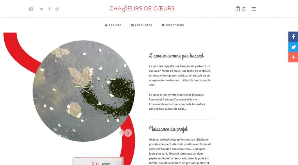 Site internet Chasseurs de coeurs - Novembre 2016