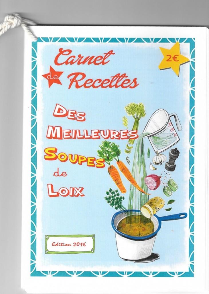 Carnet de recettes des meilleures soupes de Loix - 2016