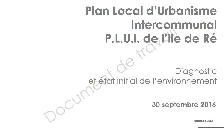 PLUi Ile de Ré - Diagnostic territoire - Source CDC