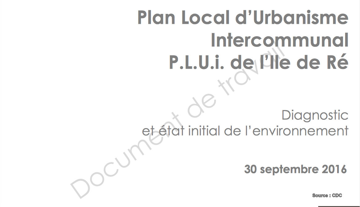PLUi Ile de Ré - Diagnostic territoire - Source CDC