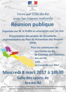 Affichette Réunion publique PPRN Ars - 8 mars 2017
