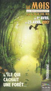 Ile de Ré - Brochure Mois de l'Environnement - avril 2017