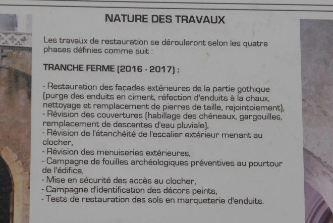 Ars - Explications travaux église - 24 novembre 2016
