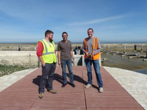 Port de la Flotte - Essais de la porte du port - 30 mars 2017