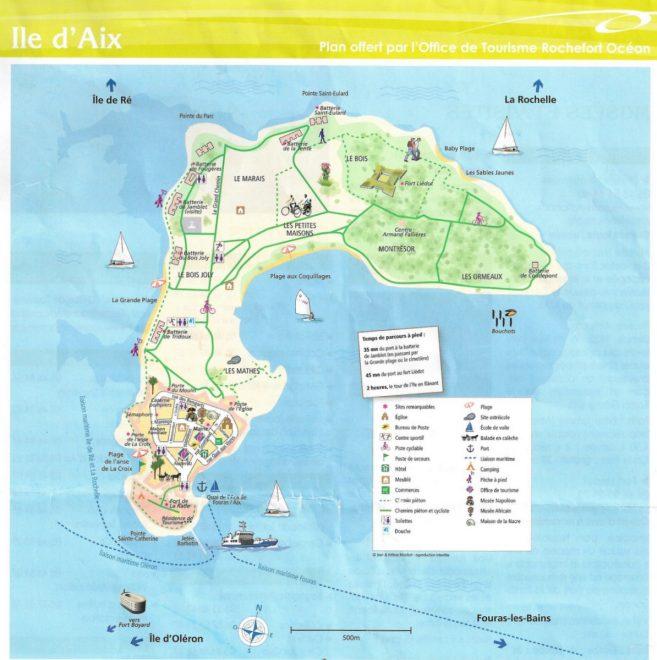 Carte de l'île d'Aix - mai 2017