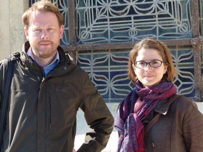 Elsa Ricaud et Stéphane Berhault, architectes du patrimoine.
