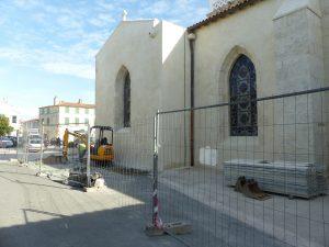 Ars-en-Ré - Travaux église - Sondages archéologiques - 15 mai 2017