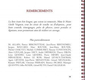 Passé Présent à Sainte-Marie de Ré - Livre deRemerciements - Anne Pawlak et Dominique Levaux-Thomas - juillet 2017