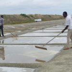 Deux sauniers guinéens en voyage d'études à l'île de Ré