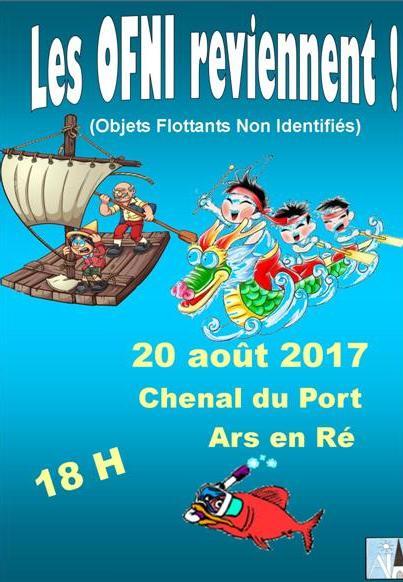 Ars-en-Ré - Affichette OFNI - 20 août 2017