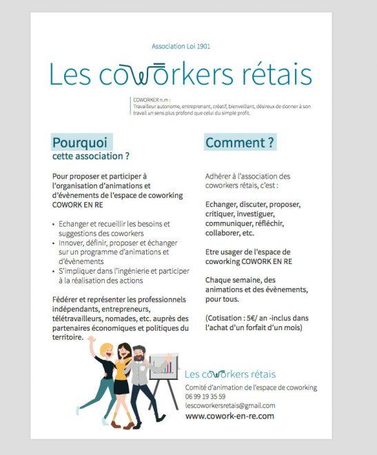 Association Les Coworkers Rétais - octobre 2017